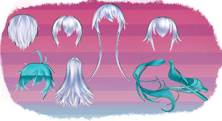 MMD HK Hair set 2