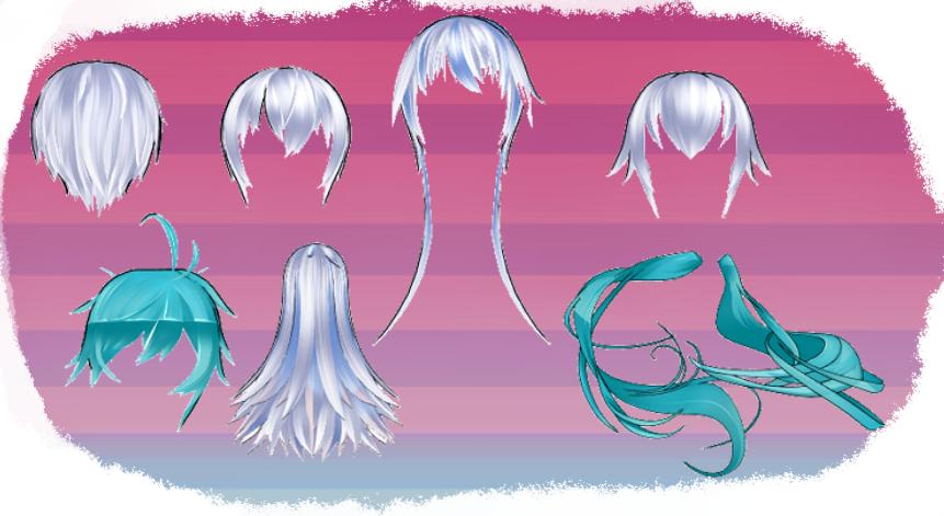 MMD HK Hair set 2 by MMD3DCGParts
