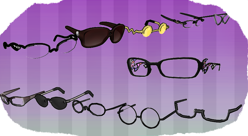 MMD Glasses Pack 1 by MMD3DCGParts