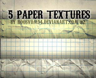 5 papertextures by ROOSVDM94