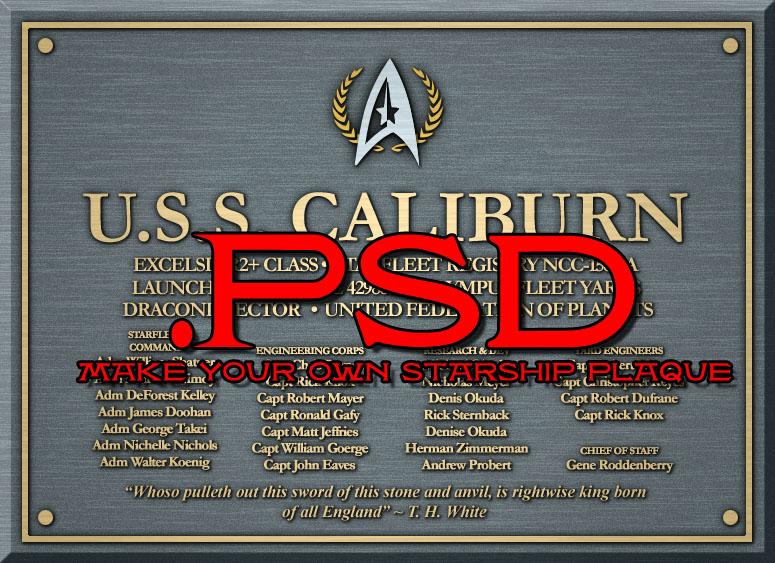 Starship Dedication Plaque PSD