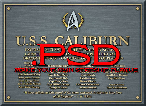 Starship Dedication Plaque PSD