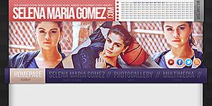 Selena Gomez  Psd Header by bernadett98