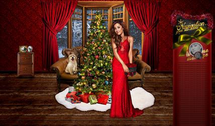 Ariana Grande christmas psd design