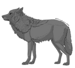 FREE Shaded wolf lineart (PSD)