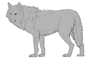 Big hunky wolf lineart  (Free, PSD) by Chickenbusiness