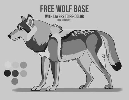 Free wolf base with layers by KFCemployee