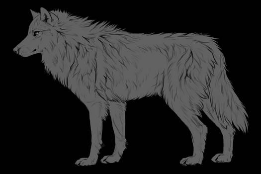 Fluffy wolf side base