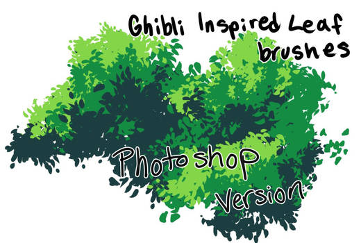 Ghibli Style Leaf Brushes Photoshop