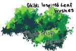 Ghibli Style Leaf Brushes Photoshop