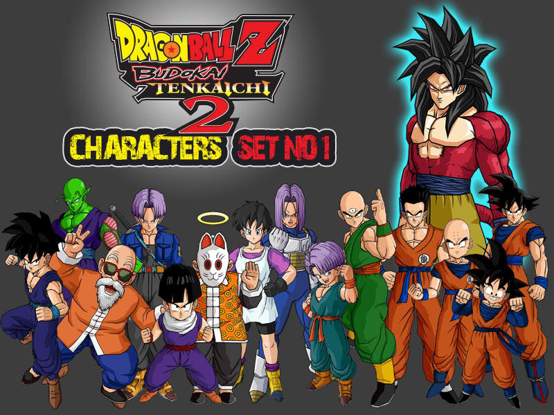 Dragon Ball Z Characters Set1 by TheLonelyWolf on DeviantArt