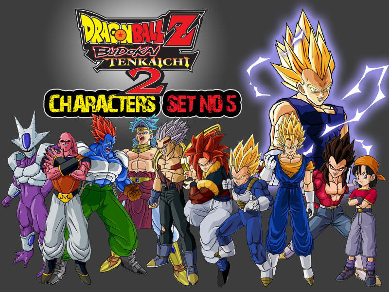 Dragon Ball Z Characters Set5 By The Lonely Wolf