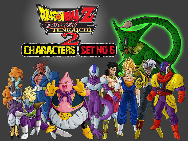 Dragon Ball Z Characters Set6 by The-Lonely-Wolf