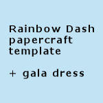 Rainbow Dash Papercraft Template Gala Dress By Freetoys On Deviantart