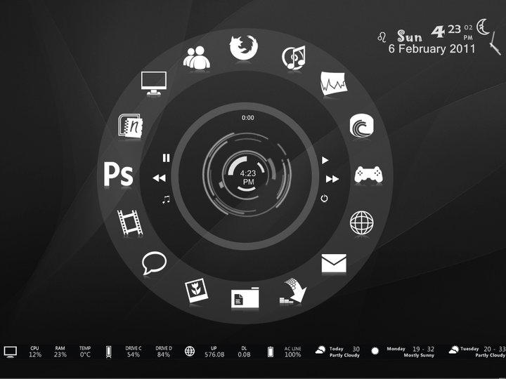 Mystical Dark for Rainmeter by hoatongoc