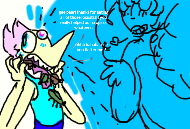 we need to stop pearl from eating bugs guys by Lawleitspuppy
