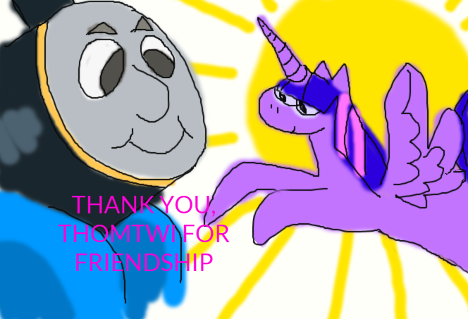 thank you thomtwi for friendship by Lawleitspuppy