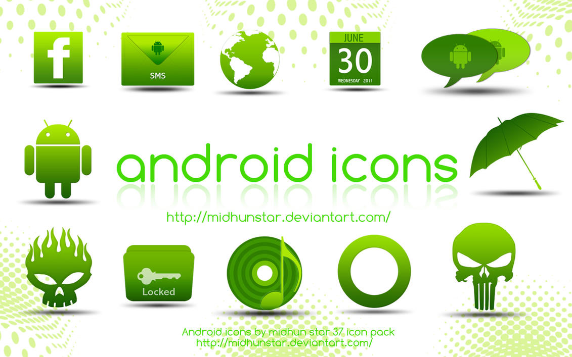 Android Green Icons by midhunstar