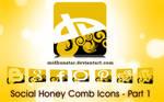 Social Honey Comb Icons -[Part1]