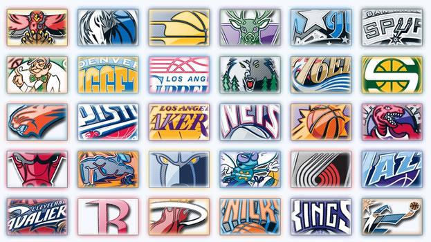 NBA Logos by Wordup