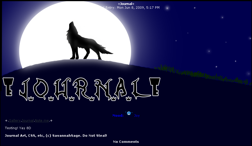 Howling Wolf Journal Skin by savannahsage