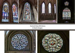 Stained Glass Windows Stock