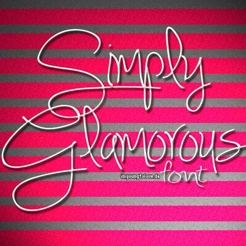 Simply Glamerous Font