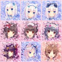 Nekopara osu! avatars pack [128x128] [161x161] by Maolyn