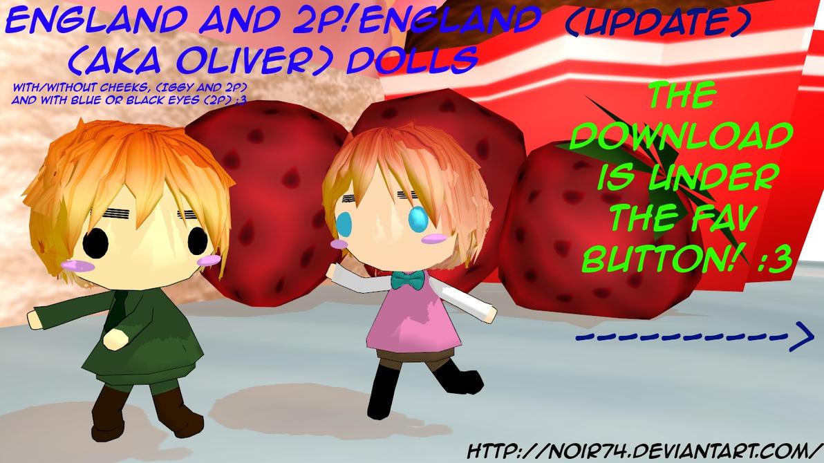 Hetalia MMD_England and 2p! Dolls DL by Noir74