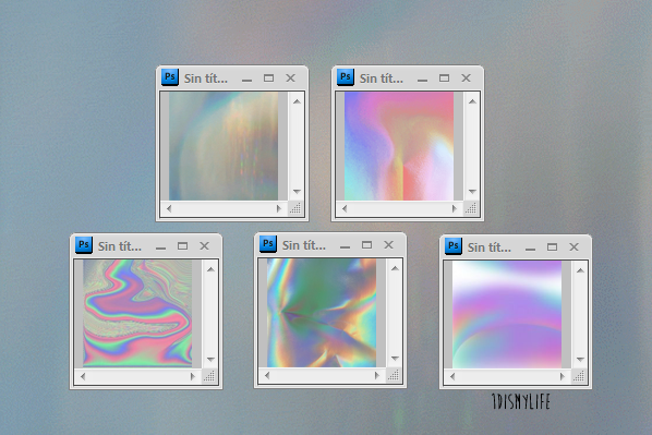 how to make a hologram sticker in photoshop