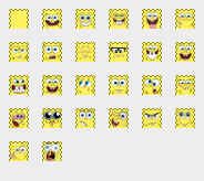 Spongebob smileys for pidgin by spazzPP2