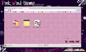 Pink Wind Theme for Google Chrome by RoaringWindd