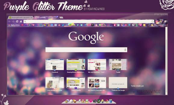 Purple Glitter Theme for Google Chrome by RoaringWindd