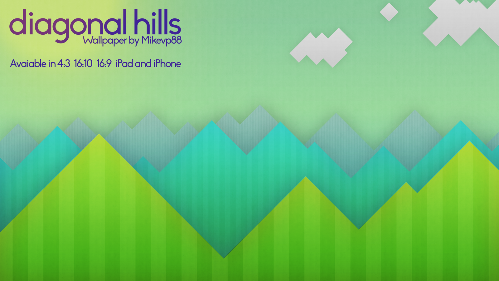 Diagonal Hills Wallpaper by MikeMovies