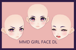 [MMD x Vroid ] Female face dl #3