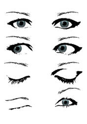 Female Eye Stock by boiled-frogs