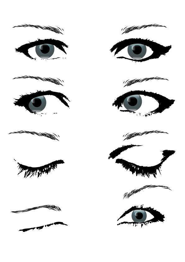 Female Eye Stock by boiled-frogs