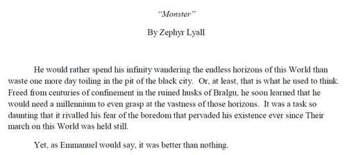 Monster by ZephyrLyall