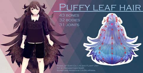 [MMD] Puffy Leaf Hair [DL]