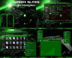 windows 7 theme green glass