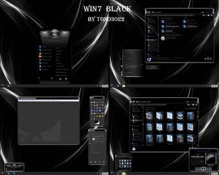 windows 7 theme black glass