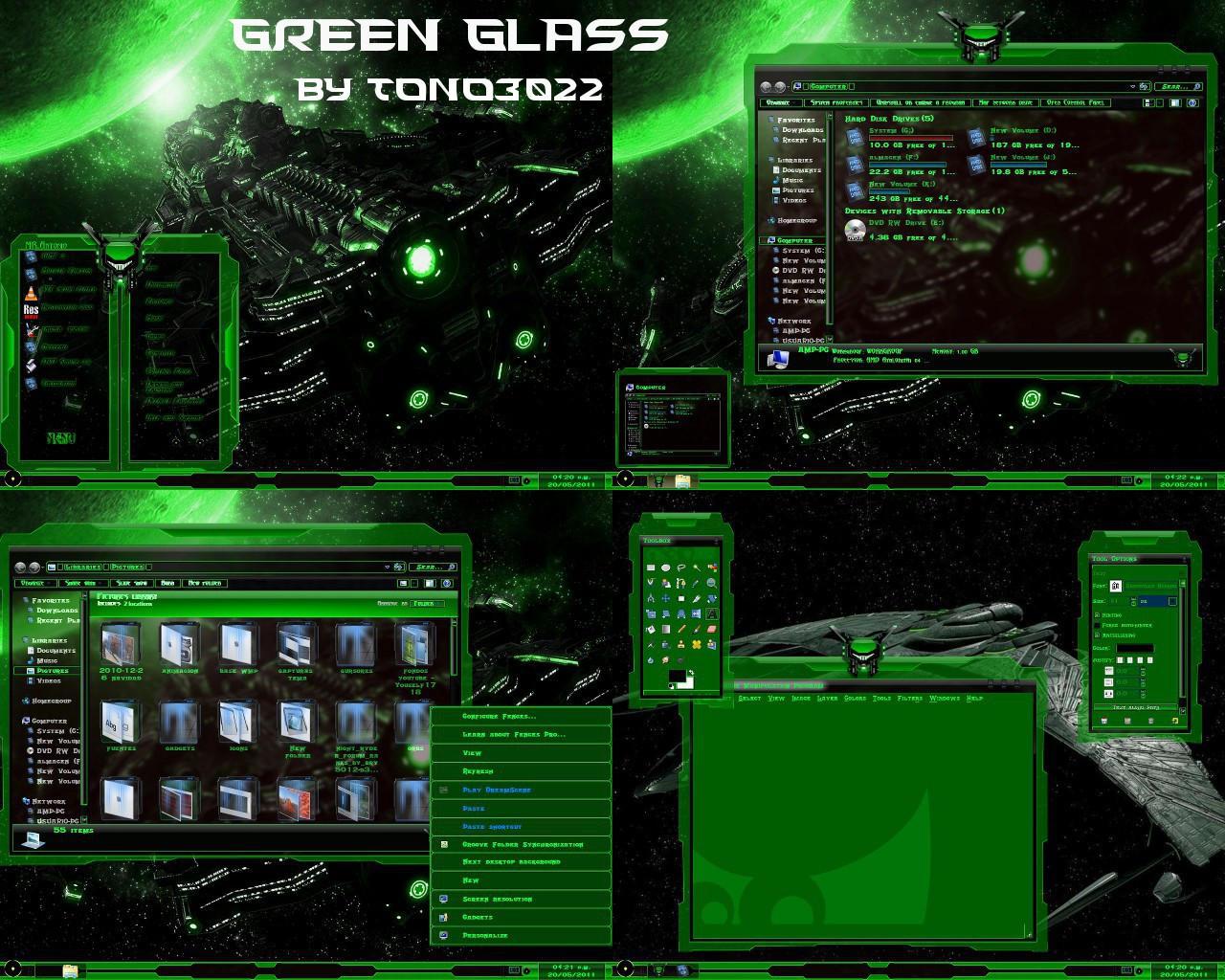 Download razer green theme for windows 7