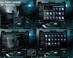 windows 7 theme ultra dark blue glass