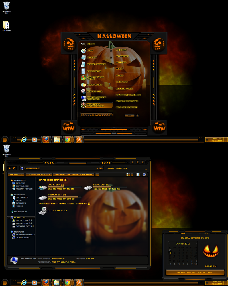 windows 7 theme halloween 2 by tono3022 - Windows 7 Halloween Theme