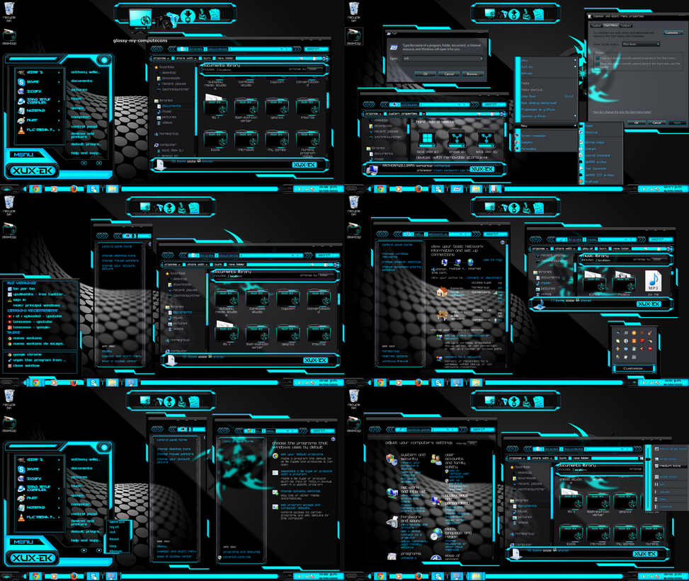 Theme Blue Xux-Ek By Tono3022 On DeviantArt