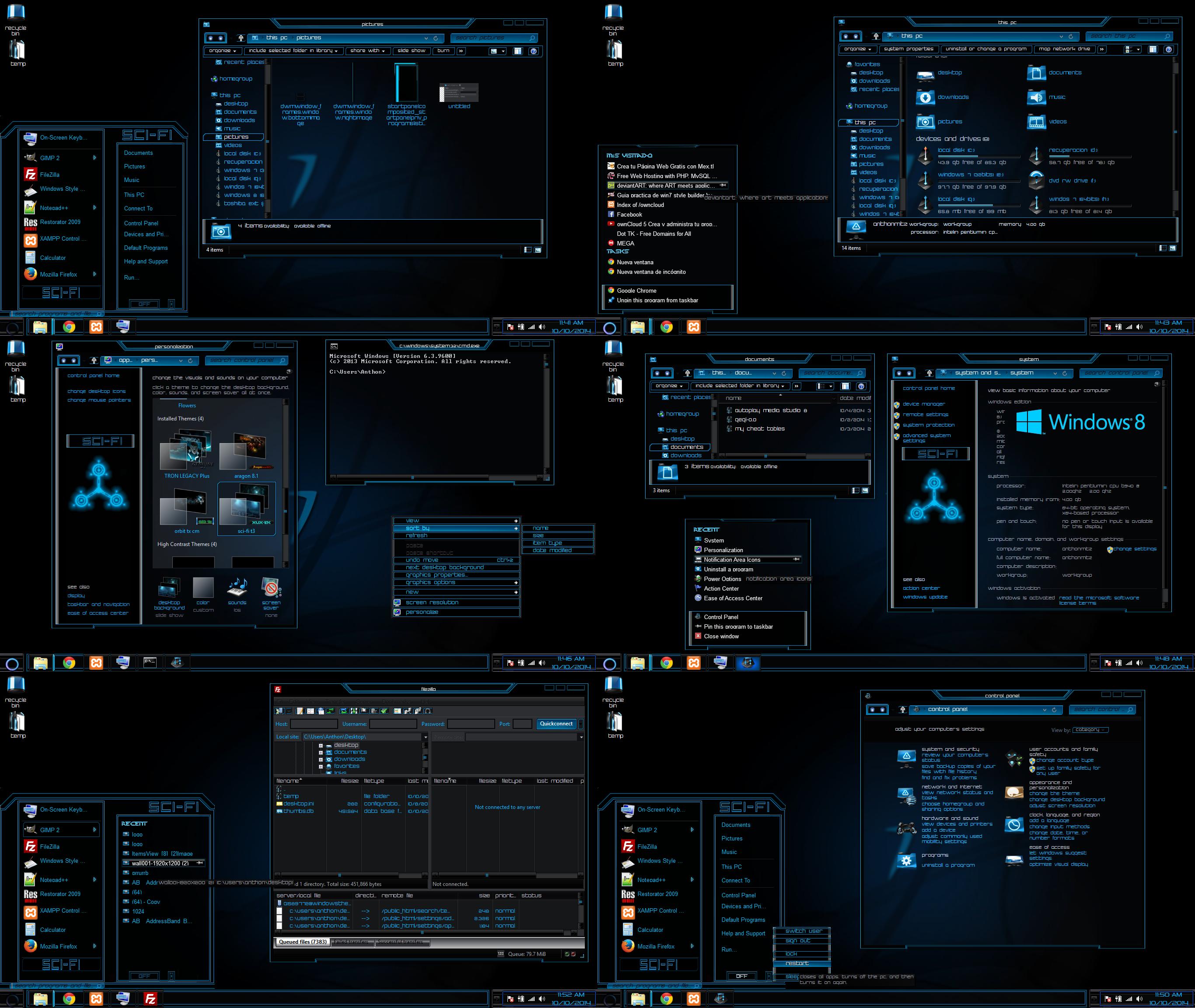Google themes windows 8 -  Windows 8 Theme Sci Fi By Tono3022