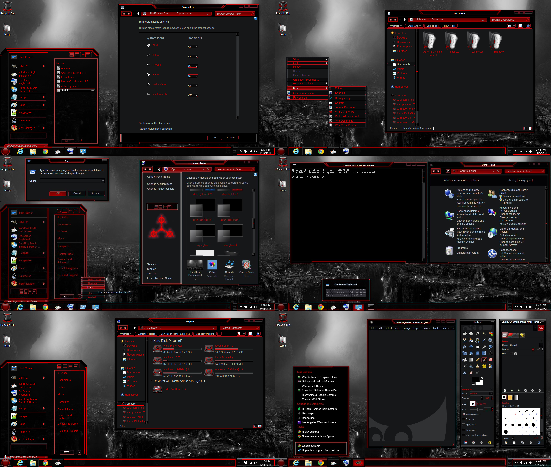 Google themes windows 8 -  Windows 8 Theme Dark Red Sci Fi Tono3022 By Tono3022