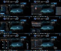 Windows 7 Themes Dark Shields by tono3022