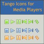 Tango Mediaplayer Action Icons by DarKobra