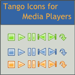 Tango Mediaplayer Action Icons by DarKobra